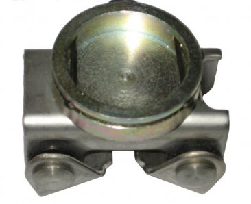 Bottom of Stainless Steel Clip On V Pad for MagSpring Utility Clamps