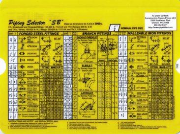 Piping Selector Slide Small Bore Slide 3000