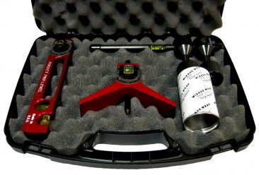 Close up of Flange Wizard Pipe Magician Case items in case