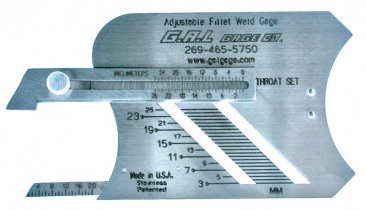 Adjustable Fillet Weld Gauge Metric by GAL Gage