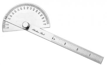 Mini Stainless Steel Protractor by Mathey Dearman