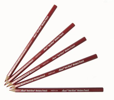 Group of Red Welder Pencils